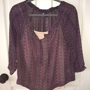 Cute blouse with tank top!
